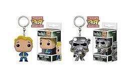 Fallout Power Armor and Vault Boy Pocket Pop! Key Chain Bund
