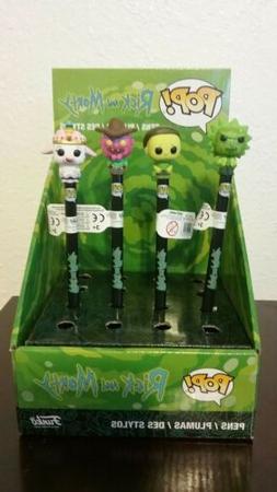 Rick and Morty Funko POP Pens LOT x4 + Display Box! Series 2