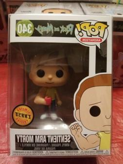 Sentient Arm Morty #340 Limited Edition Chase Funko Pop W/Pr