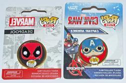Set of 2 MARVEL Comics FUNKO POP! Pins: Captain America and