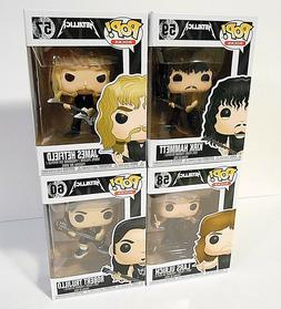 SET OF 4 Funko Pop rocks METALLICA figures #57 #58 #59 #60 ,