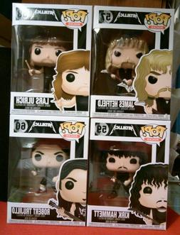 SET OF 4 Funko PoP! Rocks METALLICA figures #57 #58 #59 #60