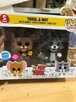 Tom and Jerry FLOCKED Funko Pop vinyl figure 2 pack set funk