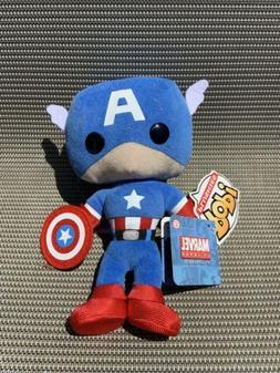 "Vintage Funko Pop Plush Marvel Captain America Stuffed 8"""